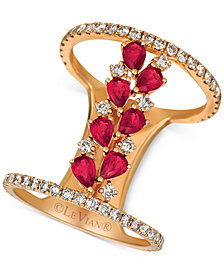 Le Vian® Ruby (1-1/10 ct. t.w.) & Diamond (7/8 ct. t.w.) Ring in 14k Rose Gold