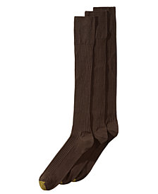 Gold Toe Men's 3-Pk. Extended Size Over-The-Calf Socks