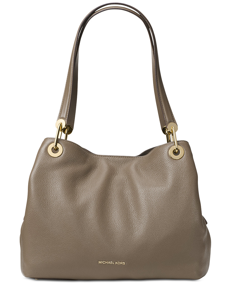 b4495e582ac1 Michael Kors Raven Pebble Leather Tote & Reviews - Handbags ...