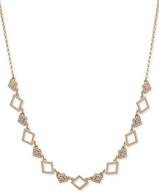 "Ivanka Trump Gold-Tone Link & Crystal 36"" Slider Necklace"