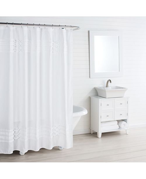 City Scene Triple Diamond White Shower Curtain
