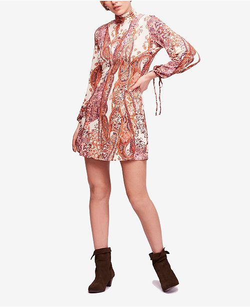 3af29d73bed8c Free People All Dolled Up Paisley-Print Turtleneck Dress & Reviews ...