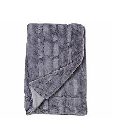 Embossed Faux Mink 50 X 60 Fur Throw Blanket