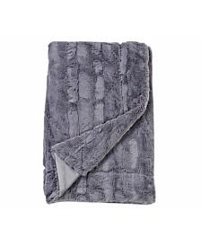 Embossed Faux Mink 50 X 60 Fur Throw Blanket