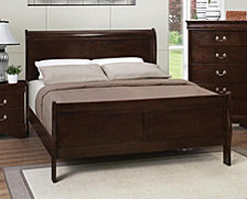 Queensbridge Traditional Queen Sleigh Bed, Quick Ship