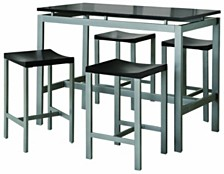 Edgemere Contemporary Five-Piece Counter Height Dining Set