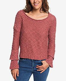 Roxy Juniors' Cotton Ruffle Party Sweater