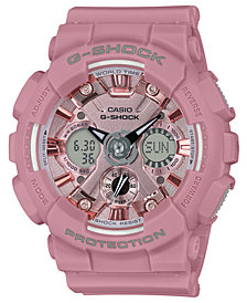 G-Shock Women's Analog-Digital Rose Resin Strap Watch 45.9mm