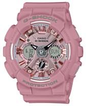 519528b1ad93 G-Shock Women s Analog-Digital Rose Resin Strap Watch 45.9mm