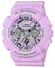 G-Shock Women's Analog-Digital Light Purple Resin Strap Watch 45.9mm