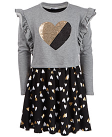 Epic Threads Big Girls Long-Sleeve Heart Dress, Created for Macy's
