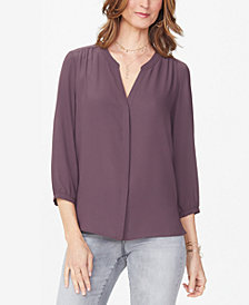 NYDJ Pleated Blouse