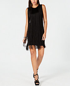 MICHAEL Michael Kors Fringe-Trim Dress