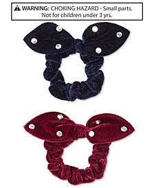 On the Verge Little & Big Girls 2-Pk. Embellished Velvet Scrunchies Set