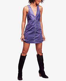 Free People Rolling Thunder Corduroy Midi Dress