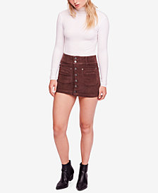 Free People Joanie Corduroy Mini Skirt