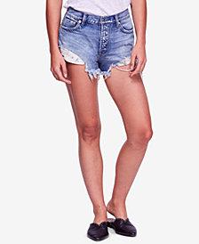 Free People Cotton Good Vibrations Denim Shorts