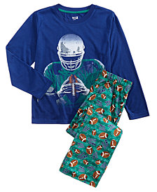 Max & Olivia Little & Big Boys 2-Pc. Football Pajama Set