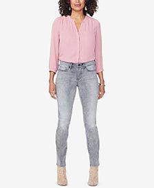 NYDJ Sheri Tummy-Control Slim Straight-Leg Jeans