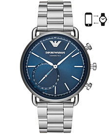 Emporio Armani Men's Stainless Steel Bracelet Hybrid Smart Watch 43mm