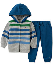Tommy Hilfiger 2-Pc. Baby Boys Fleece Hoodie & Jogger Pants Set
