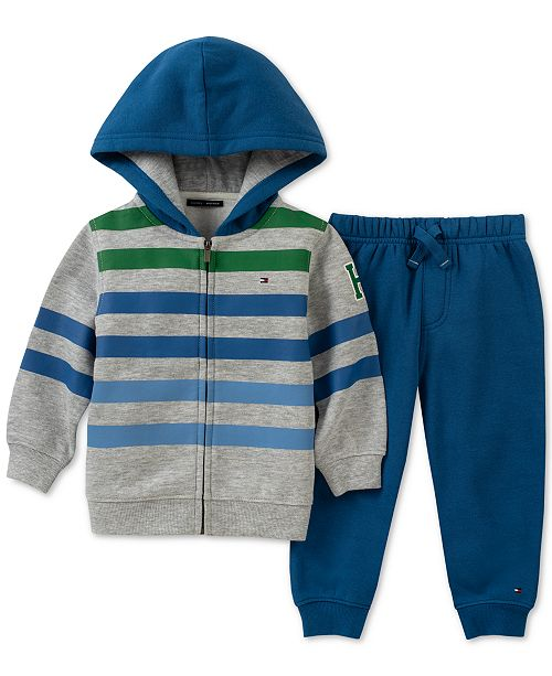 c189bc4070b19 Tommy Hilfiger 2-Pc. Baby Boys Fleece Hoodie   Jogger Pants Set ...