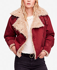 Free People Owen Contrast Sherpa Jacket