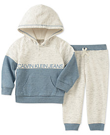 Calvin Klein Baby Boys 2-Pc. Hoodie & Jogger Pants Set