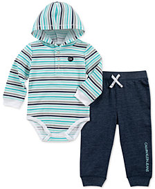Calvin Klein Baby Boys 2-Pc. Striped Bodysuit & Jogger Pants Set