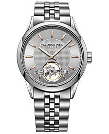 Men's Swiss Automatic Freelancer 1212 Stainless Steel Bracelet Watch 42mm