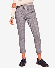 Free People Rock On Plaid Ankle Skinny Pants