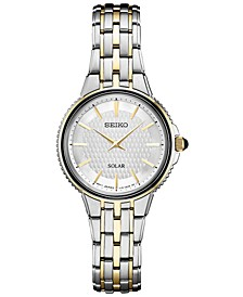 Women's Solar Essentials Two-Tone Stainless Steel Bracelet Watch 29mm