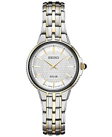 Seiko Women's Solar Essentials Two-Tone Stainless Steel Bracelet Watch 29mm