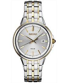 Men's Solar Essentials Two-Tone Stainless Steel Bracelet Watch 39.4mm