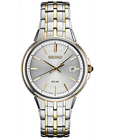 Seiko Men's Solar Essentials Two-Tone Stainless Steel Bracelet Watch 39.4mm