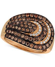 Le Vian Chocolatier® Diamond Spiral Statement Ring (1-1/5 ct. t.w.) in 14k Rose Gold