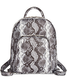 I.N.C. Farahh Snake Backpack, Created for Macy's