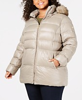 9a5146bf6b3d MICHAEL Michael Kors Plus Size Faux-Fur-Trim Puffer Coat