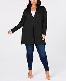 Plus Size Sweater Blazer, Created for Macy's