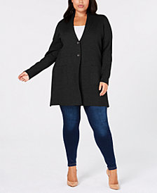 Charter Club Plus Size Sweater Blazer, Created for Macy's