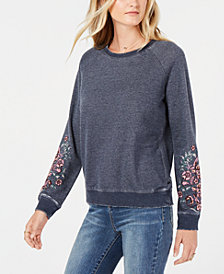 Lucky Brand Embroidered Sweatshirt