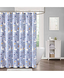 "Décor Studio Liam The Llama 72"" x 72"" Shower Curtain"