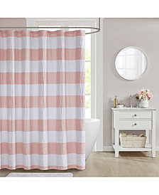 "Décor Studio Orlando 72"" x 72"" Seersucker Shower Curtain"