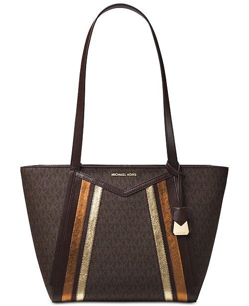 238af0303b4bab Michael Kors Whitney Signature Metallic Tote & Reviews - Handbags ...