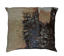 Brushstrokes Velvet Feather Cushion 25X25
