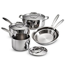 Gourmet Tri-Ply Clad 8 Pc Cookware Set