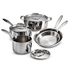 Tramontina Gourmet Tri-Ply Clad 8 Pc Cookware Set