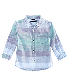 Tommy Hilfiger Baby Boys Jason Striped Cotton Shirt