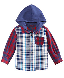 Tommy Hilfiger Baby Boys Trevor Hooded Plaid Cotton Shirt