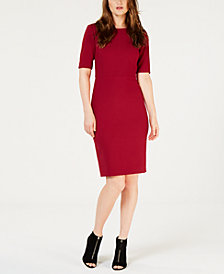 Trina Turk Short-Sleeve Sheath Dress